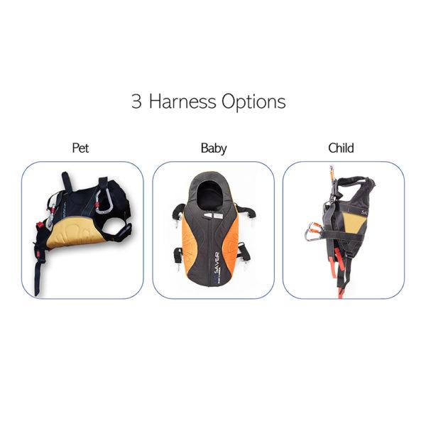 3 harness options
